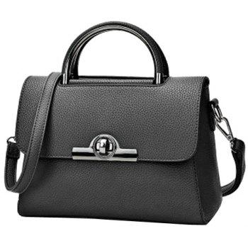 Simple Solid Color and Hasp Design Women's Tote Bag