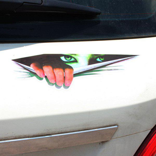 Fashion 3D Peeping Woman Pattern Wall Sticker For Car Vehicle Decoration - COLORMIX