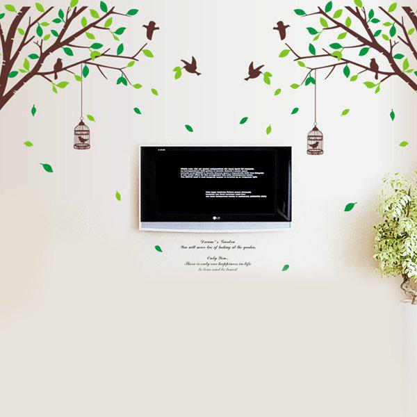 Fashion Large Size Trees Landscape Pattern Wall Sticker For Bedroom Livingroom Decoration - COLORMIX