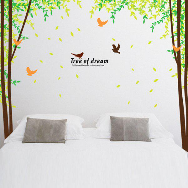 Fashion Large Size Tree of Dream Landscape Pattern Wall Sticker For Bedroom Livingroom Decoration - COLORMIX