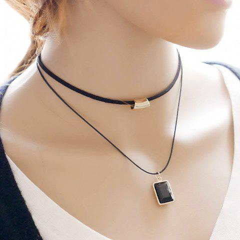Chic Style Multilayered Geometric Choker Necklace For Women