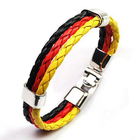 Layered Faux Leather Germany Bracelet faux leather braid layered bracelet