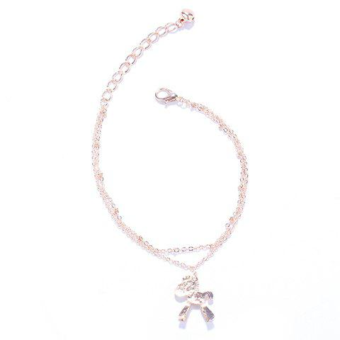 Charming Multilayer Cartoon Pony Pendant Anklet For Women