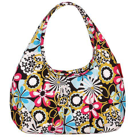 Cute Floral Printed And Canvas Design Womenu0026#39;s Tote Bag COLORMIX In Tote Bags | DressLily.com