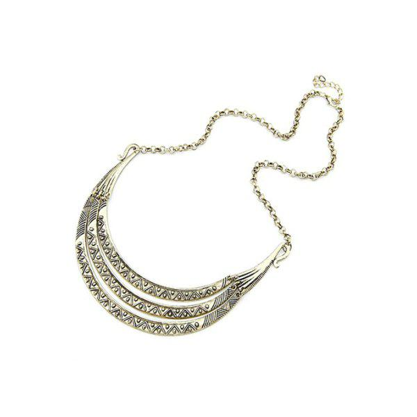 Chic Tribal Style Carve Pendant Alloy Necklace For Women