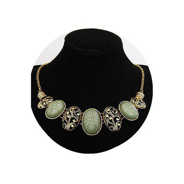 Chic Tribal Style Faux Gem Statement Necklace For Women  недорого