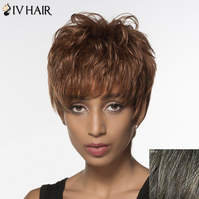 Spiffy Short Siv Hair Capless Fluffy Wave Full Bang Women's Real Natural Hair Wig установочный комплект для багажника thule 1060