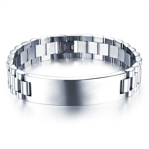 Chic Style Titanium Steel Chain Bracelet Jewelry For Men - SILVER