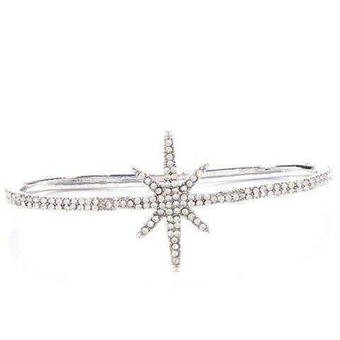 Elegant Embossed Star Palm Bracelet For Women