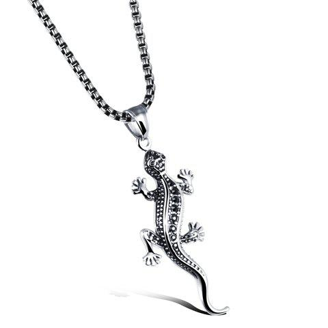 Chic Lizard Pendant Necklace For Men - SILVER