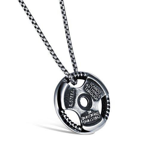 Delicate Hollow Out Pendant Necklace For Men