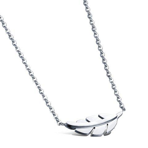 Charming Leaf Pendant Necklace For Women - SILVER