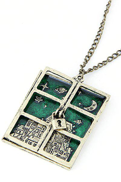 Chic Lock Window Pendant Necklace For Women - COPPER COLOR