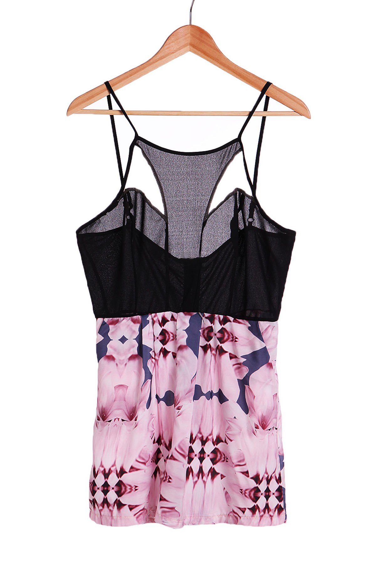Sexy Women's Strappy Hollow Out Floral Print Romper