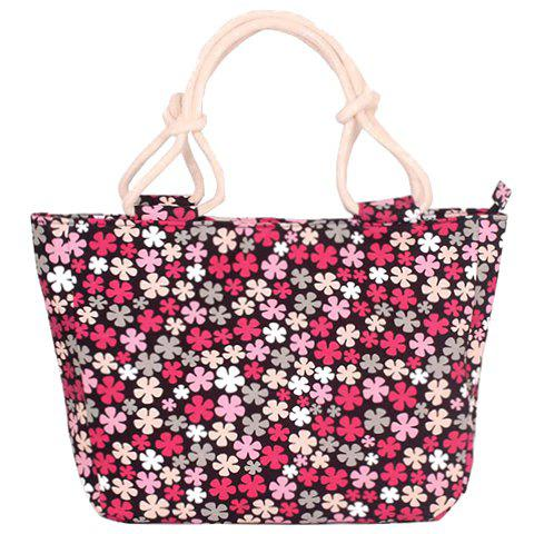 Sweet Tiny Floral Print and Canvas Design Women's Tote Bag