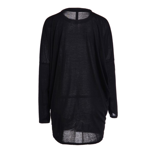 Casual Pleated Batwing Sleeve Pure Color T-Shirt For Women