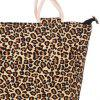 Leisure Leopard Print and Canvas Design Women's Tote Bag - LEOPARD