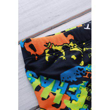 Colorful Printing Elastic Swimming Trunks For Men - 3XL 3XL