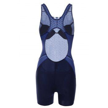 Maillots de bain Chic Imprimé Cut Out One-Piece Femmes - Bleu Violet L