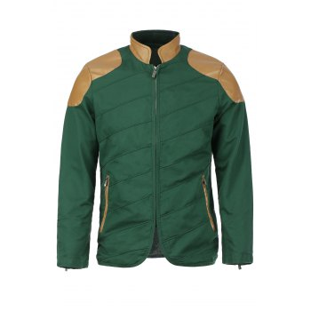 Modish Stand Collar Multi-Zipper PU Leather Spliced Color Block Men's Long Sleeves Jacket