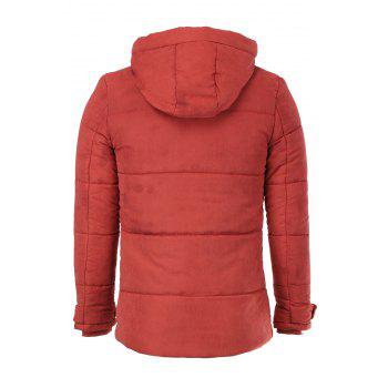 Fashion Hooded Multi-Zipper Large Pocket Color Block Slimming Long Sleeves Men's Thicken Coat - XL XL