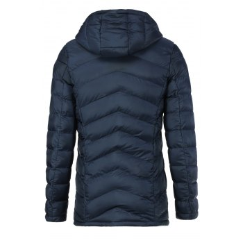Laconic Hooded Inclined Zipper Fly Solid Color Long Sleeves Slimming Men's Cotton Blend Coat - CADETBLUE M