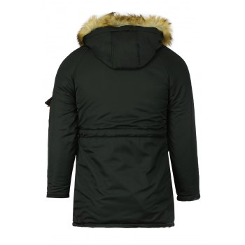 Color Block Multi-Zipper Stereo Patch Pocket Detachable Hooded Long Sleeves Men's Fitted Coat - BLACK BLACK