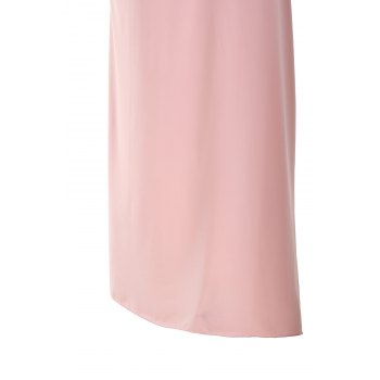 Sexy Strapless Sleeveless Solid Color Asymmetrical Women's Dress - PINK PINK