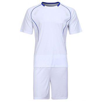 Men's Round Collar Sports Style Football Training Jersey Set (T-Shirt+Shorts)