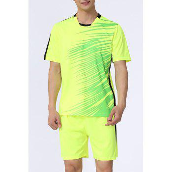 Hot Sale Men's Sports Style Football Training Jersey Set (T-Shirt+Shorts)