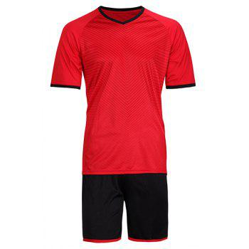 Men's Sports Style Quick Dry Training Jersey Set (T-Shirt+Shorts)