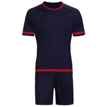Hot Sale Men's Sports Style Quick Dry Jersey Set (T-Shirt+Shorts)