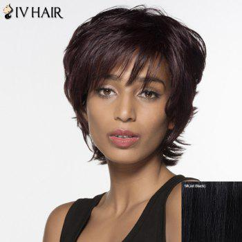 Elegant Short Siv Hair Fluffy Wave Women's Capless Real Natural Hair Wig