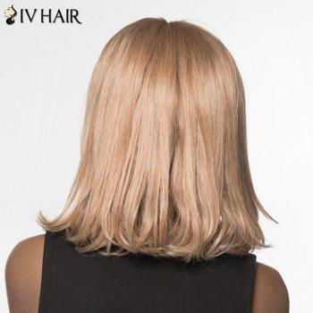 Shaggy Wave Tail Adduction Siv Hair Medium Capless Human Hair Wig For Women - GOLDEN BLONDE