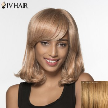 Shaggy Wave Tail Adduction Siv Hair Medium Capless Human Hair Wig For Women