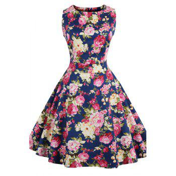 Mini Floral Print Pin Up Dress