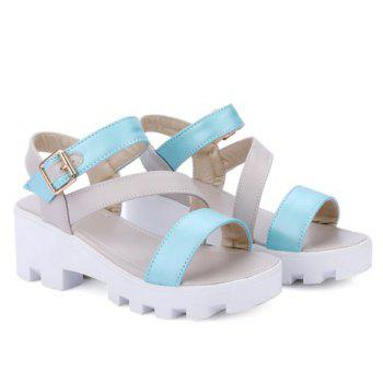 Stylish Platform and Colour Block Design Women's Sandals