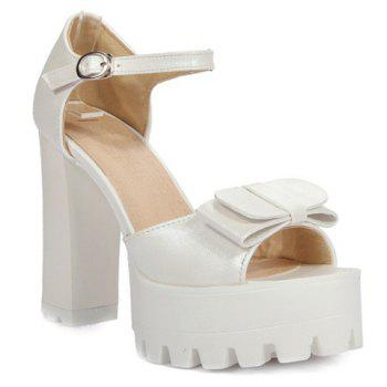Fashionable Platform and Peep Toe Design Women's Sandals