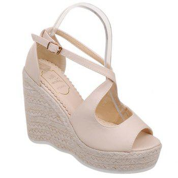 Fashionable Peep Toe and Cross Straps Design Women's Sandals