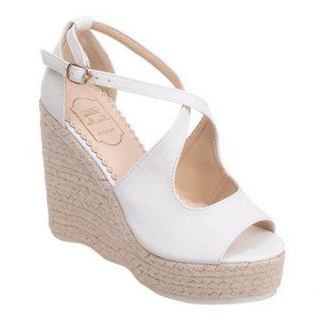 Mode peep toe et Sandals Cross Straps design Femmes  's
