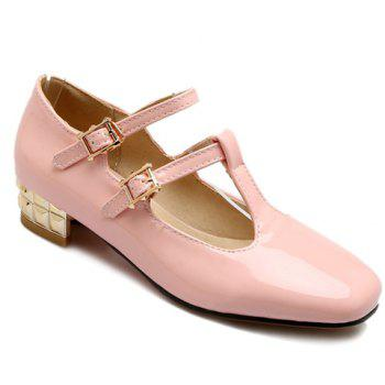 Leisure Square Toe and Double Buckle Design Women's Flat Shoes