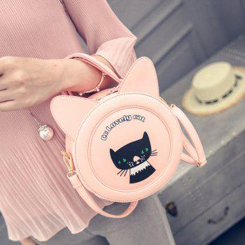 Casual Letter and Animal Print Design Women's Crossbody Bag - PINK
