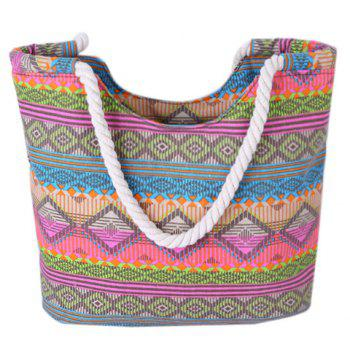 Bohemian Geometric Print and Color Block Design Women's Shoulder Bag