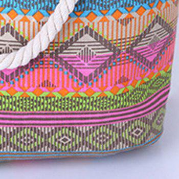 Bohemian Geometric Print and Color Block Design Women's Shoulder Bag -  COLORMIX
