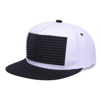 Stylish Rivet Rectangle Shape Rubber Embellished Men's Baseball Cap