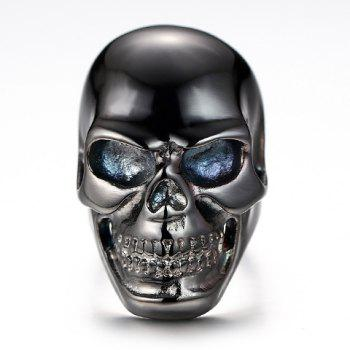 Titanium Steel Hollow Out Skull Ring