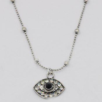 Superbe Multilayer Rhinestone Eye Rhombus chaîne Pull pour les femmes - Argent