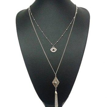 Rhinestone Eye Rhombus Sweater Chain
