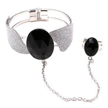 Propeller Faux Gem Bracelet with Ring