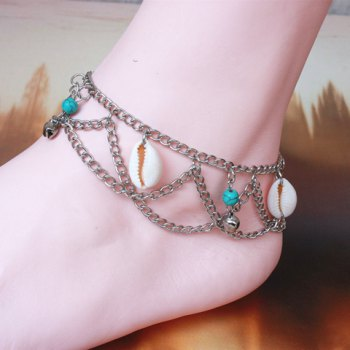 Charming Multilayer Shell Bell Hippie Traditional Anklets - COLORMIX COLORMIX